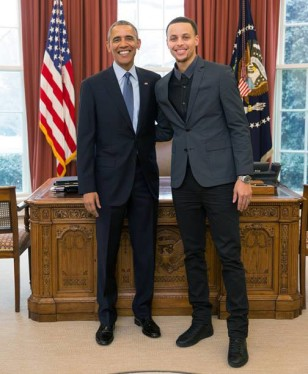 President Obama and Stephen Curry at the White House. Photo: Courtesy of Nothing But Nets
