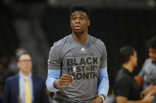 Denver Nuggets guard Emmanuel Mudiay. Photo: David Zalubowski / AP