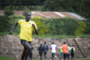 James Nyang Chiengjiek is training for the Rio Olympics in Brazil.
