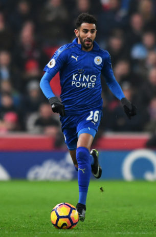 Riyad Mahrez in action for Leicester City. Photo: Anthony Devlin / Reuters