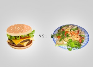 Hamburgers v. Vietnamese food, by Nick
