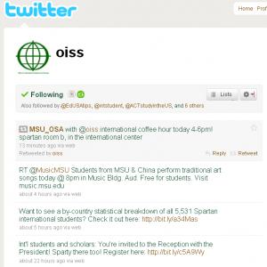 oiss twitter feed