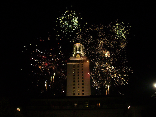 Diwali fireworks at the University of Texas, 2007 (Creative commons photo by Flickr user Niyantha)