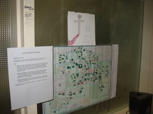 A campus map hangs at Michigan State University (Creative commons photo by Flickr user druark)