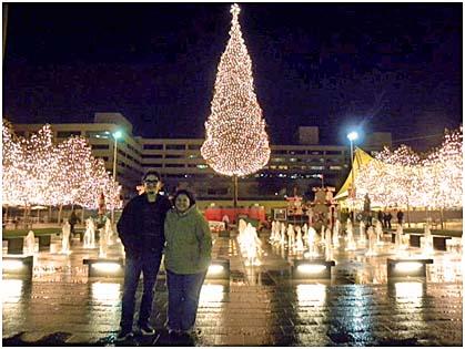 The gorgeous Kansas City Plaza at night