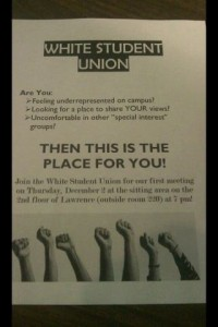 White Student Union flier