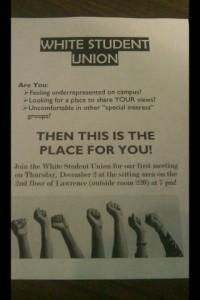 White Student Union flier