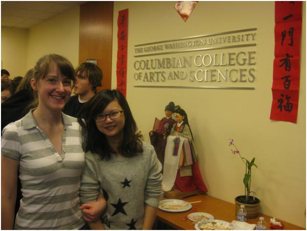 Sarah, an undergraduate from Pittsburgh, and Yu-Chieh, a graduate student from Taiwan, are both majoring in Asian Studies.