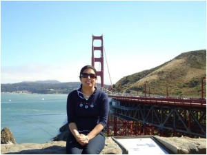 Sadia travels around California