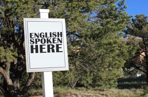 English spoken here