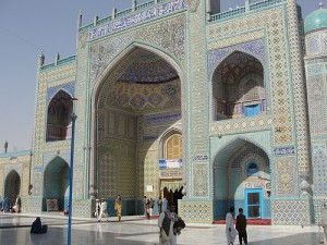 Shrine of Hazrat Ali in Mazar-i Sharif (Creative commons photo by Flickr user Michal Hvorecky)