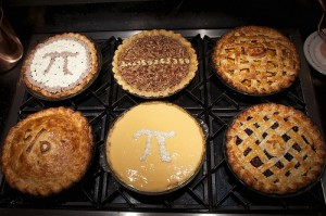 Pi Day pies (Creative commons photo by Flickr user Dennis Wilkinson)