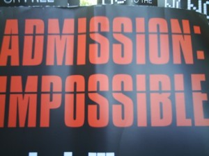 Admission Impossible - Creative commons photo by Flickr user David Morris