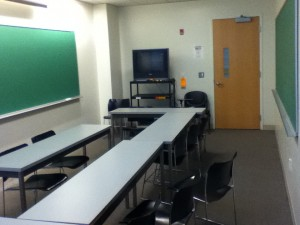My tiny political science classroom from last semester