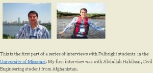 Screen grab from Abdullah's interview on the Mizzou international students blog