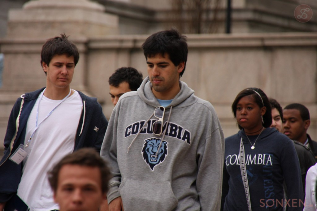 Students wearing Columbia University sweatshirts. Creative Commons photo by Flickr user airsoenxen