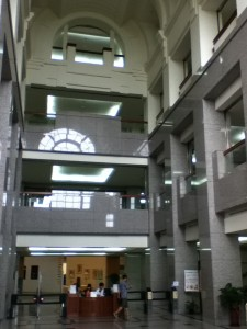 The library at NTU