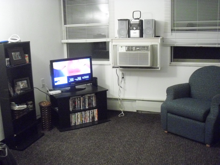 Living room of the dorm