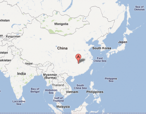Where I lived in China (Google Map - Map data copyright 2011 Geocentre Consulting, Tele Atlas, Europa Technologies)