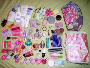 What's in your makeup bag? (Creative Commons photo by Flickr user Nikita Kashner http://www.flickr.com/photos/kitta/139786236/)