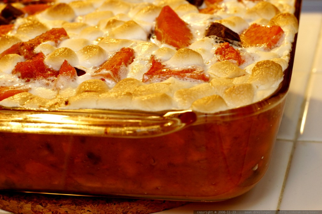 "Flickr user Sam Dreilinger calls this Thanksgiving dish ""white trash yams"" (Creative Commons photo by Flickr user Sam Dreilinger)"