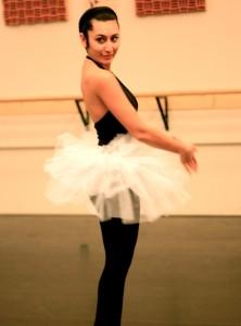Practicing ballet