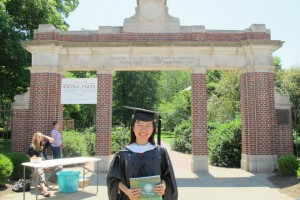 Huyen on the day of her graduation