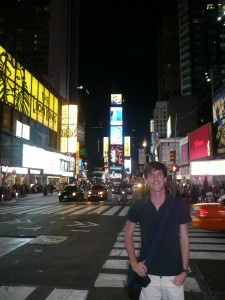 Me visiting Times Square in New York City