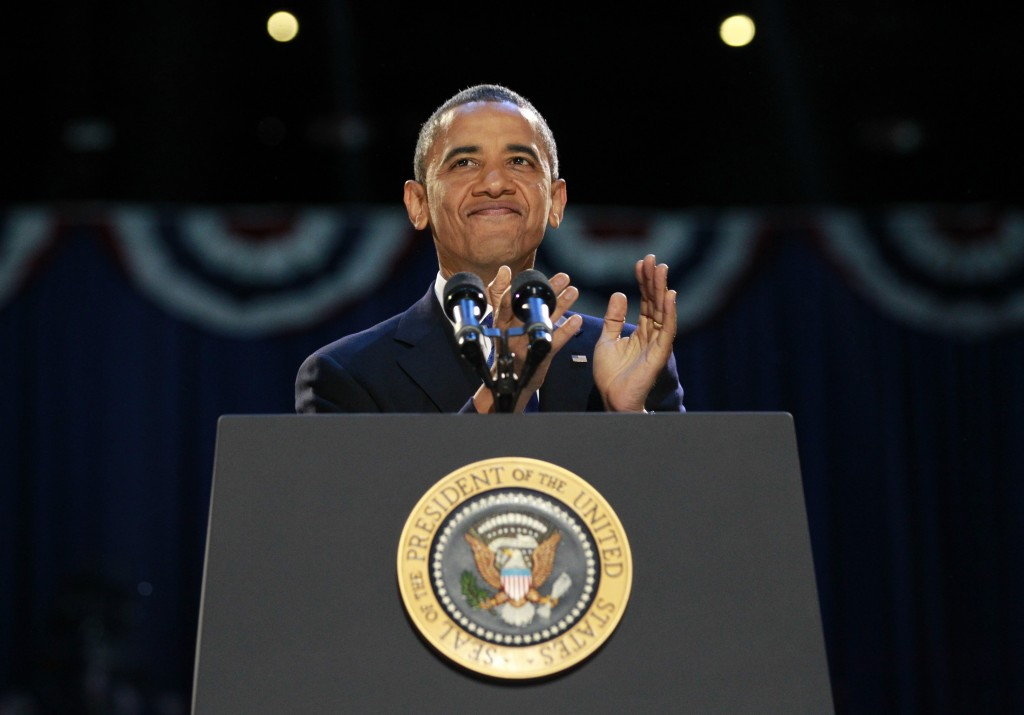 President Obama gives his victory speech (Photo: Reuters)