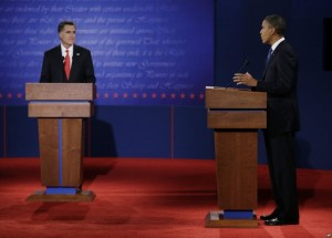 Obama and Romney face off in the first presidential debate