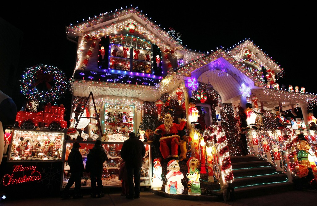 Decorations on a house in Queens, NY (Photo: Reuters)