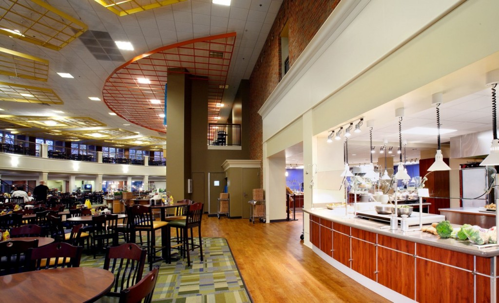 The Furman dining hall