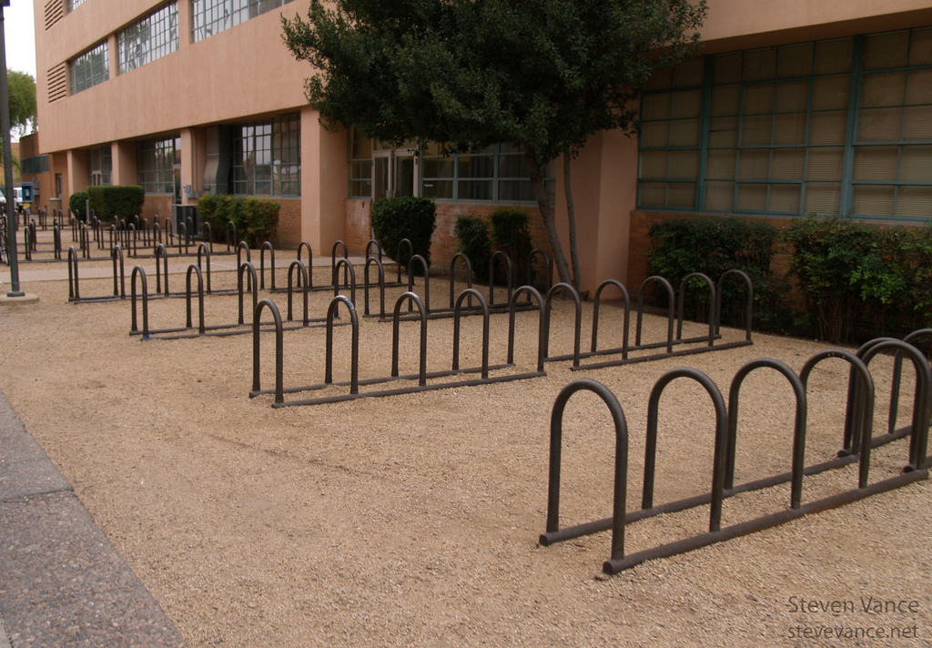 Bike Racks at Arizona State, by Stephen Vance