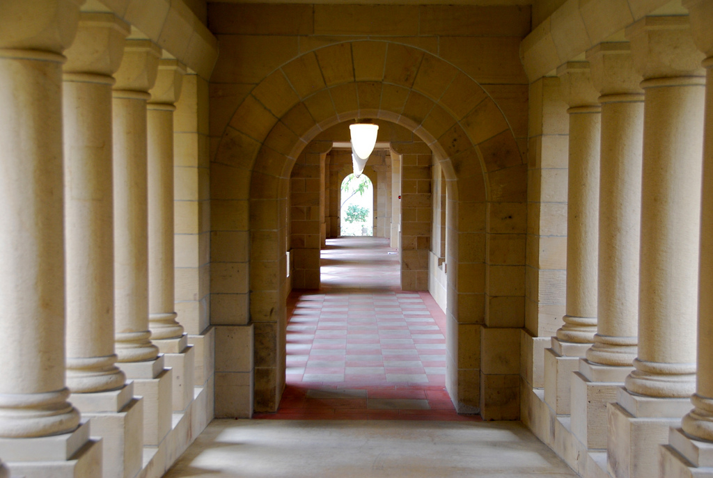 Passageway at Stanford, by Adam Fagen