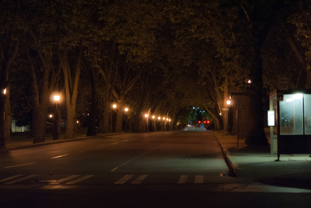 Empty Memorial Way at University of Washington, by Jon Fowler