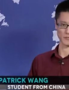 Patrick Wang from China says to keep an open mind.