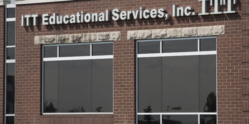 "ITT Educational Services headquarters in Carmel, Ind., is shown Tuesday, Sept. 6, 2016. The company, which operates vocational schools, announced ""with profound regret"" in a statement Tuesday that it is ending academic operations at all of its more than 130 campuses across 38 states. (AP Photo/Michael Conroy)"