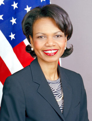 U.S. Secretary of State Condoleezza RIce, who served under President George W. Bush.