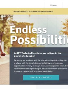 ITT web page