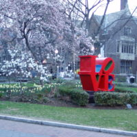 LOVE sculpture at Penn by Jeffrey M. Vinocur