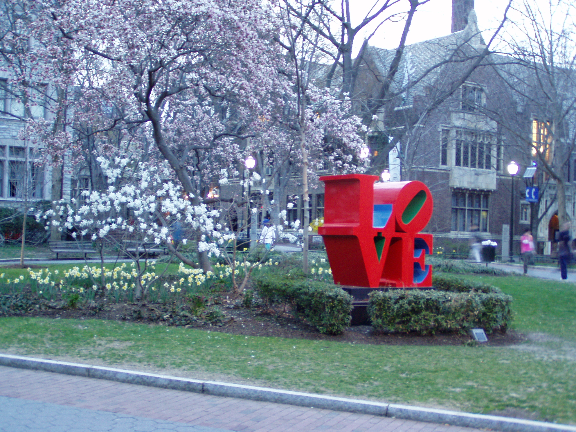 LOVE sculpture at Penn by Jeffrey M. Vinocur