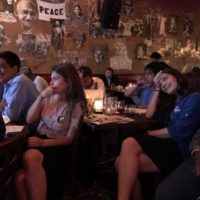 International students watch the third presidential debate