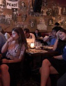 International students watch the third presidential debate