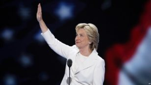 clinton-waving