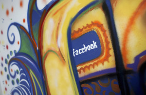 FILE - A painting is pictured at the Facebook headquarters in Menlo Park, California. (Reuters)