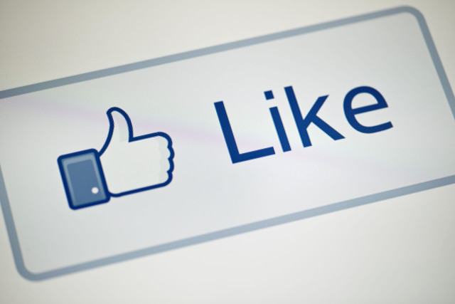 "A view of Facebook's ""Like"" button"