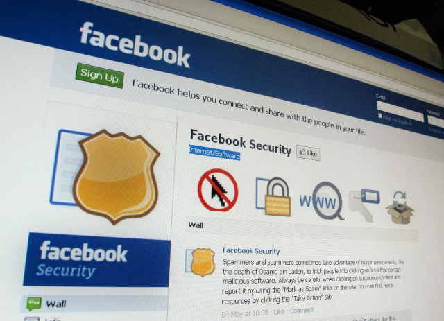 A page from the Facebook website is seen in Singapore, May 11, 2011. (Reuters)