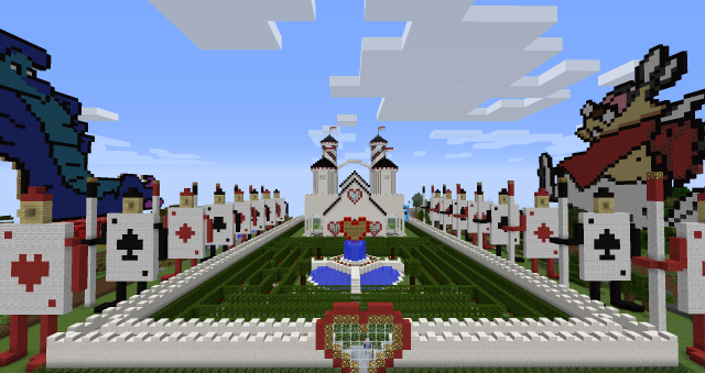 An 'Alice in Wonderland' castle built by some of the Autcraft server players. (Stuart Duncan)