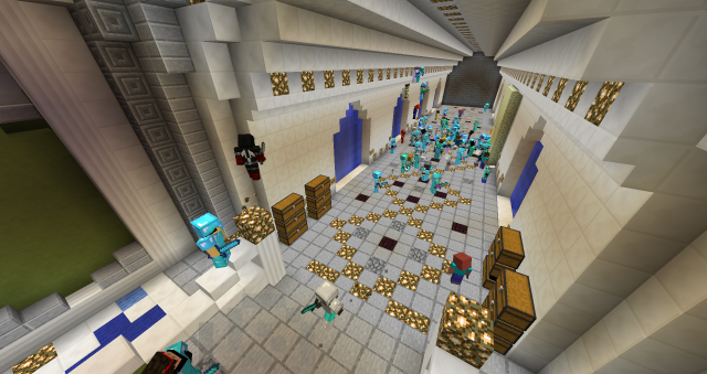 A huge server gathering to take on the Dragon, the only sort of 'end boss' added to the Autcraft game. This is a big occasion when everyone joins the server to participate. (Stuart Duncan)