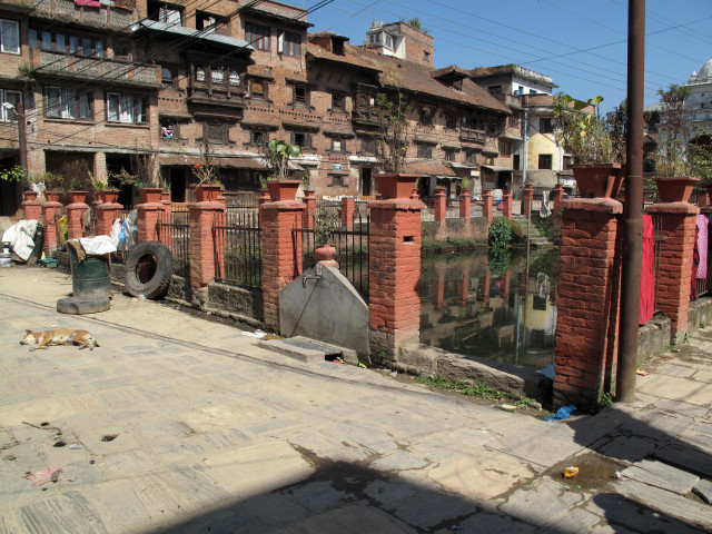 Dey Pukhu in Kirtipur, Nepal, before it was renovated. (UN-Habitat)
